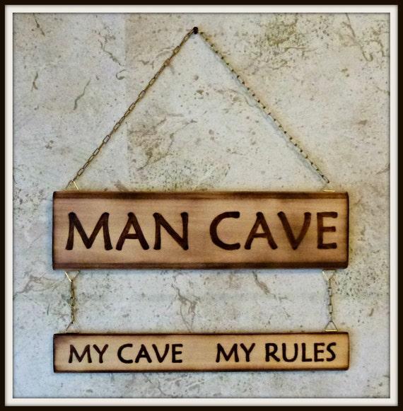 Custom Wood Man Cave Signs :