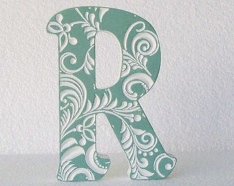 Letters R, wood letter decorations, wooden letters for nursery, decor, baby letters, wedding letter, letter gifts, fancy letter