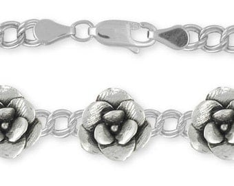 Solid Magnolia Bracelet Jewelry Sterling Silver MG5-BR