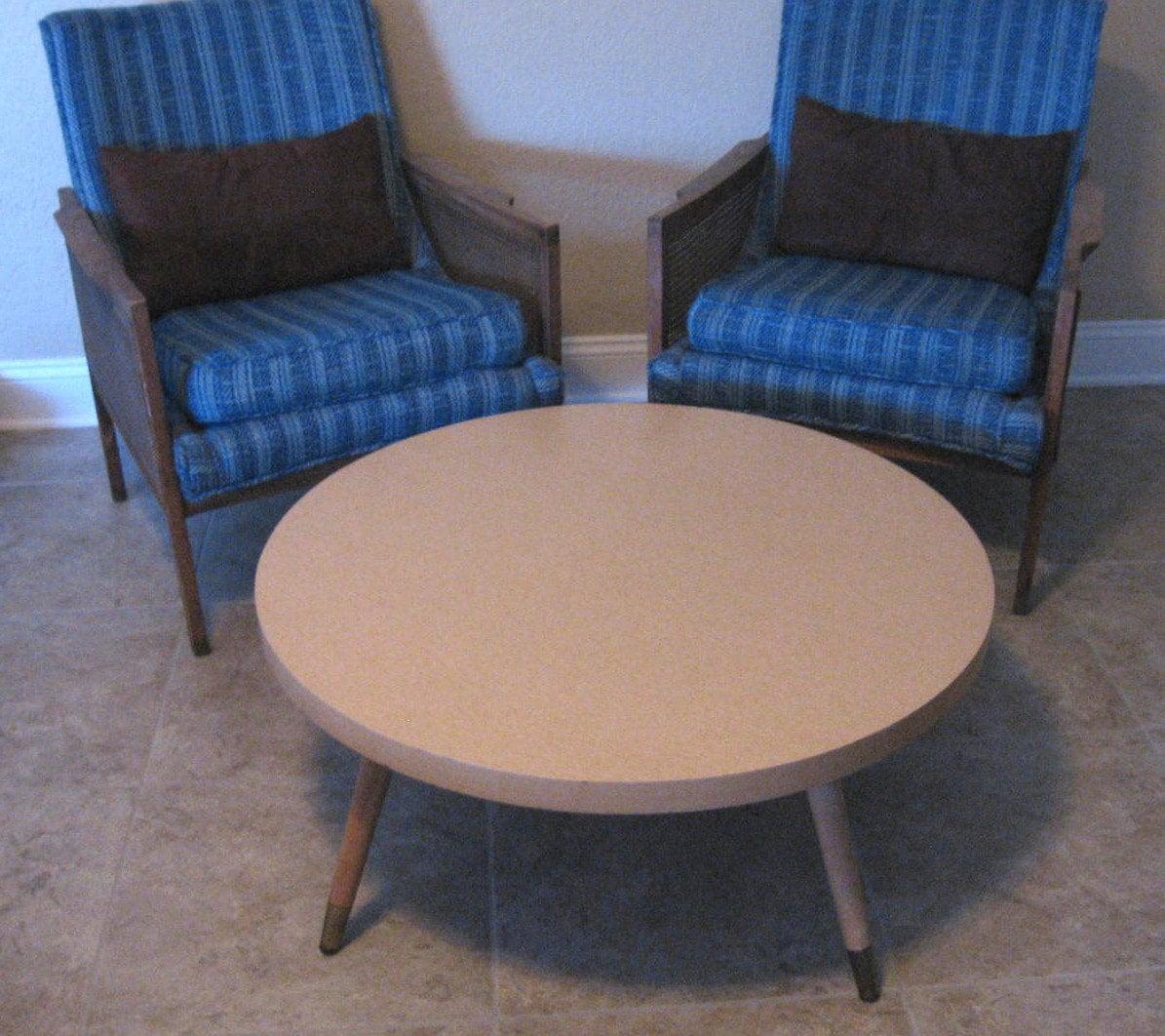 Sale Vintage Mid Century Modern Round Coffee Table Vintage