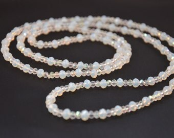 Moonstone and Swavorski Crystal Necklace.