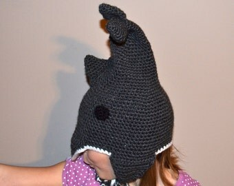 Crocheted Hat - Dolphin