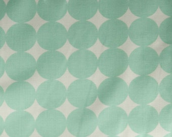 LAST 40 INCHES True Colors Mod Dot in Aqua by Heather Bailey for Free Spirit Fabrics