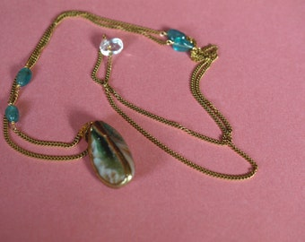 geode agate and apatite necklace