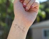 World Map Medium - Spirit Ink Temporary Tattoos