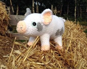 SnuggleMe Piggy PDF Crochet Pattern