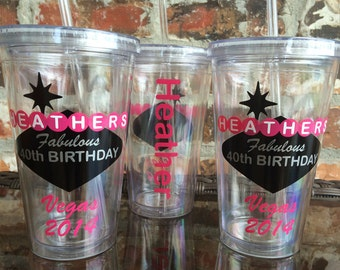 Las Vegas Sign Birthday Party Tumbler