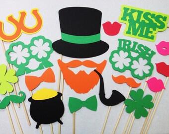 18 St. Patrick's Day Photo Booth Set - St. Patrick's Day Photobooth Props - Irish Photo Booth Props