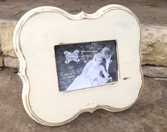 Hand made distressed 5x7 frame