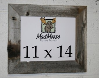"""11x14 BarnWood [Thin x 3""""] Picture Frame"""