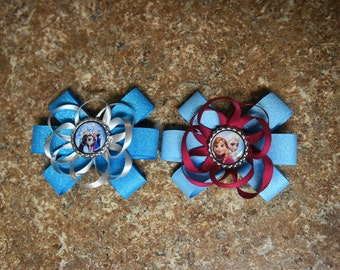 """Disney's Frozen and  """"The Sister"""" Hair Bows"""