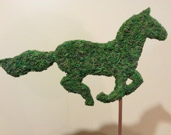 Galloping Horse Topiary Silhouette-perfect addition to your Barn Party or Wedding Centerpiece.