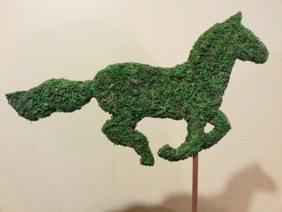 Decorate your Show Stall!  Galloping Horse Topiary Silhouette-perfect addition to your Barn Party or Wedding Centerpiece.