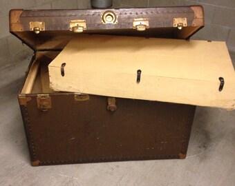 vintage large steamer trunk