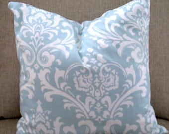Village Blue/natural Pillow Cover. Classic Pillow Cover. Ozborne Blue/natural Toss pillow
