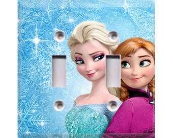 Frozen - Ana and Elsa Double Light Switch Cover