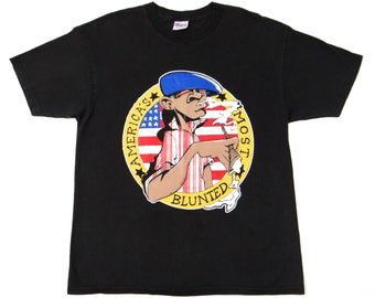 Vintage 90's AMERICA'S MOST BLUNTED Shirt Hip Hop Rap Pot Marihuana Cypress Hill Dre