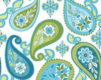 One Yard - Splendor Paisley in Blue by Lila Tueller for Riley Blake - 1 yard