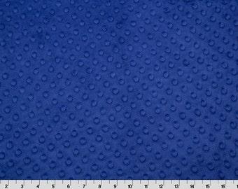 Midnight Blue Minky Fabric - 1 yard, One Yard Increments