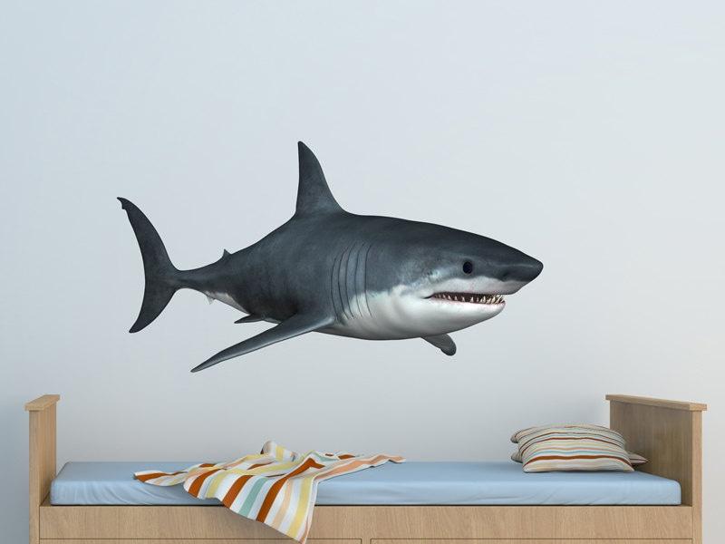 great white shark 2 wall decal great white shark vinyl wall