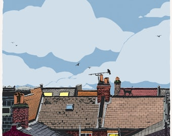 Rooftops no.1 - Limited Edition Print