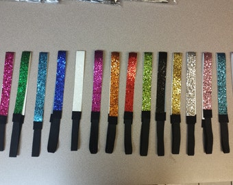 Glittery Headbands- Personalized- Volleyball,Soccer, Softball-Many colors to choose from!