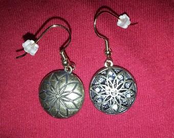 Vintage Crystal-Filled Earrings