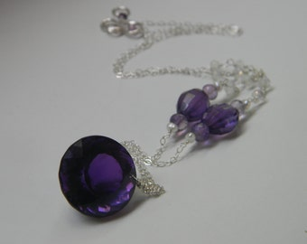 SALE. necklace. amethyst. moonstone.