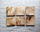Beautifully Figured Wormy Maple Trivets, Coasters or Hot Pads