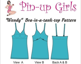 WENDY Bra-in-a-tank-top PATTERN  by Pin Up Girls