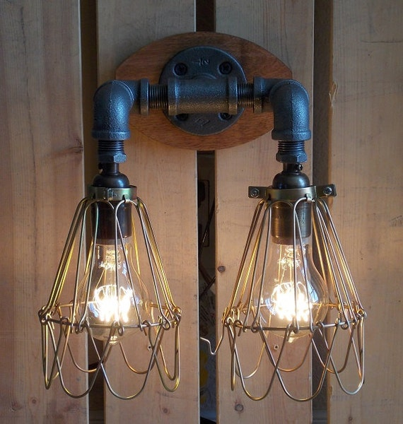 Industrial Vanity: Items Similar To Industrial Vanity Light On Etsy