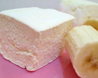 Banana Marshmallows - 1 dozen Gourmet homemade marshmallows