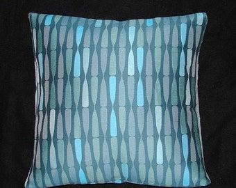 "Retro Mid Century Modern design - Accent decor Pillow -  17"" x 17"" with feather/down insert"