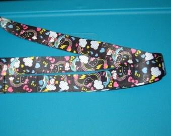 Cat Dolphin Rainbow Lanyard / Keychain / System Holder / Badge ID Holder / Neck Strap - Design 1