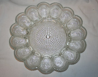 Vintage Indiana Glass Co Deviled Egg/Relish Tray