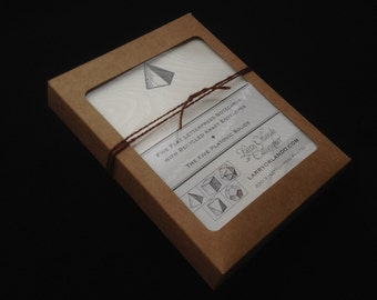The Five Platonic Solids Notecard Set (5/set)