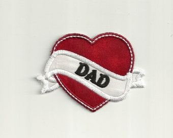 I Heart Dad, Tattoo Patch! Custom Made!