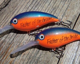Personalized Fishing Lure Painted Lures Wedding Gift Parents Groomsmen Father of the Groom Father of the Bride Brother Usher Men Best Man