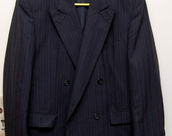 double breasted vintage suit jacket retro four button