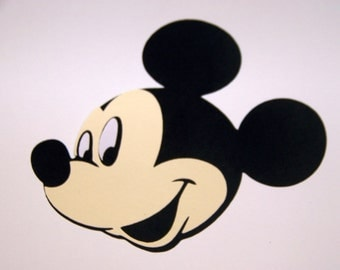 10 Mickey Mouse face 4 inch die cuts