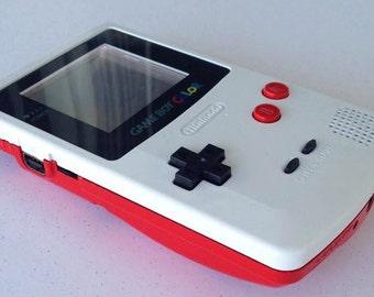 Custom Frontlit Nintendo Gameboy Color for Retro Gaming in the dark or LSDJ Chiptune Prosound
