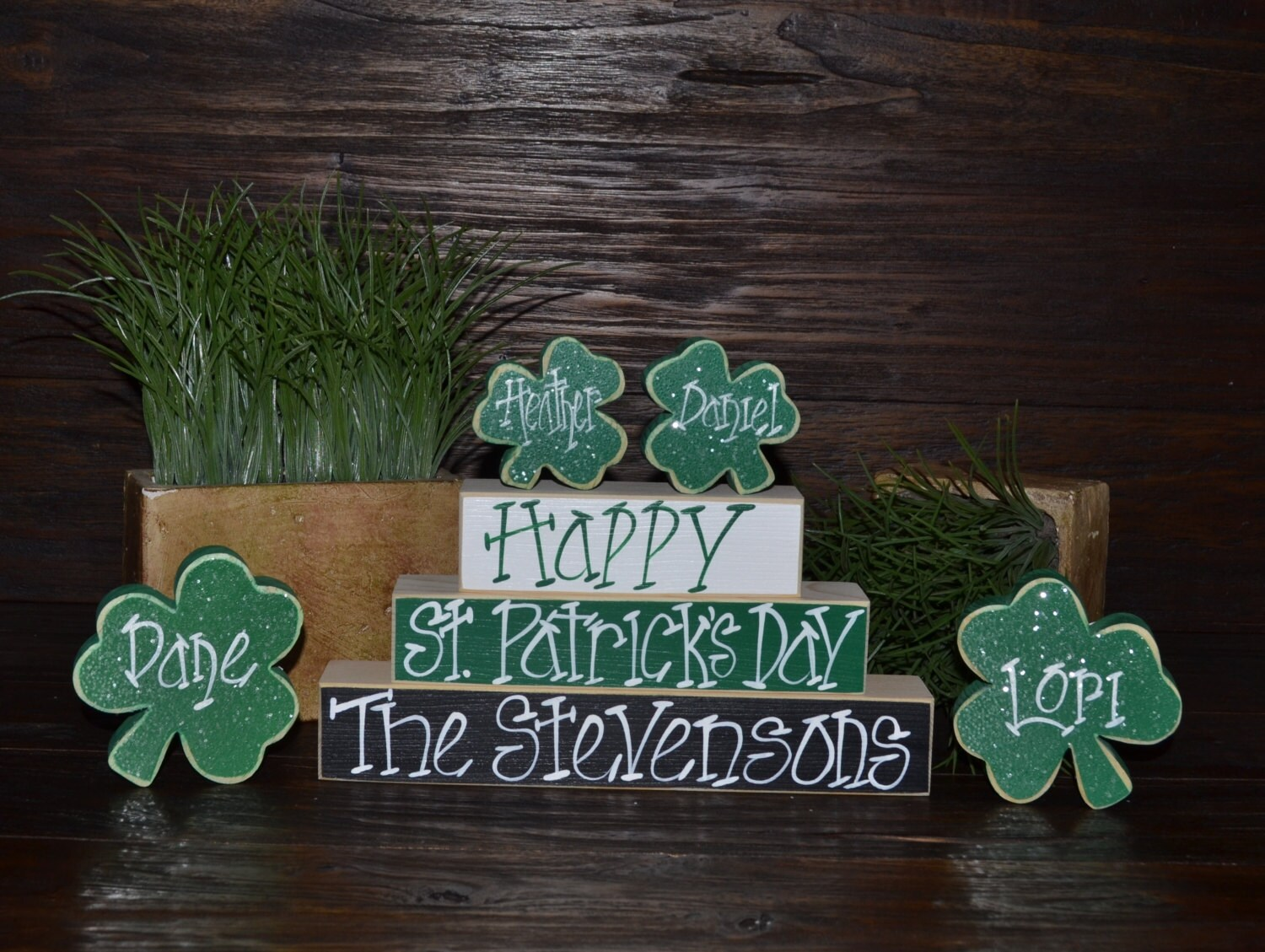 Personalized st patrick 39 s day home decor personalized for Personalized home decor