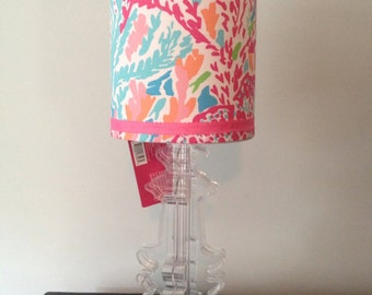 Lilly Pulitzer Lamp shade ONLY Let's Cha Cha Turquoise