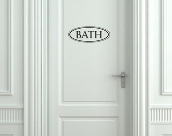 Bath Vinyl Decal