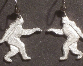 New Design..Finding Bigfoot.......Let's Go Squatchin......Earrings ....   5/8  x  5/8