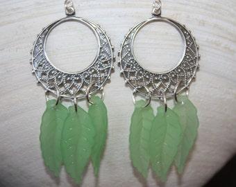 Filigree and Leaf Earrings