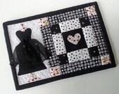MUG RUG  PATTERN Little Black Dress Mug Rug Pattern (Instant Digital Download)
