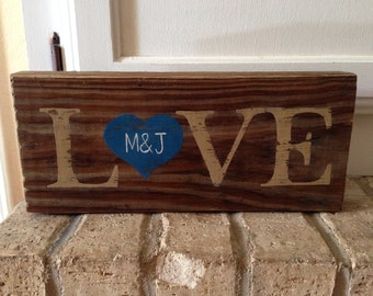 Wedding or Anniversary Love Sign