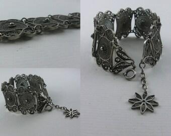 Fantastically beautiful bracelet made of silver. Filigree, Fries jewelry, silver filigree jewelry. Handmade. VINTAGE silver TREASURE