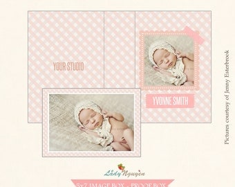 INSTANT DOWNLOAD - Image/Proof box design Photoshop Template - CD046